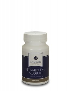 Vitamin D-3 5000 IU - 120 Softgels - Web